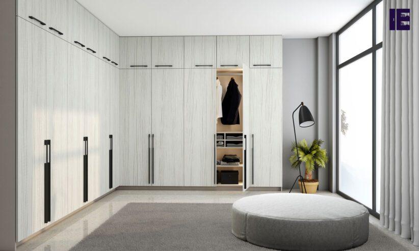 Fitted-Hinged-Corner-Wardrobes-in-white-woodgrain-finish-2