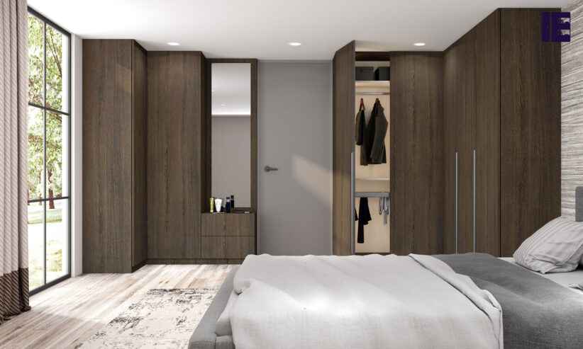 Fitted-Hinged-Corner-Wardrobes-in-woodgrain-finish-2