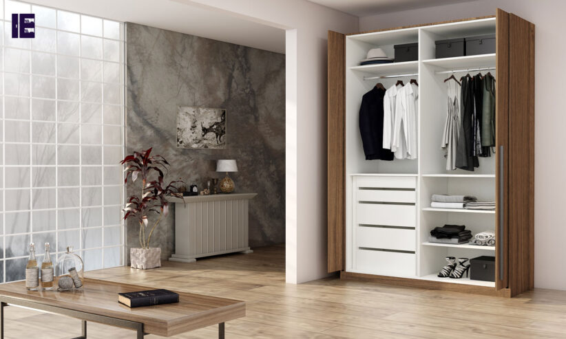 Fitted-wardrobe-with-pocket-door-system-in-walnut-wood-finish_1-1