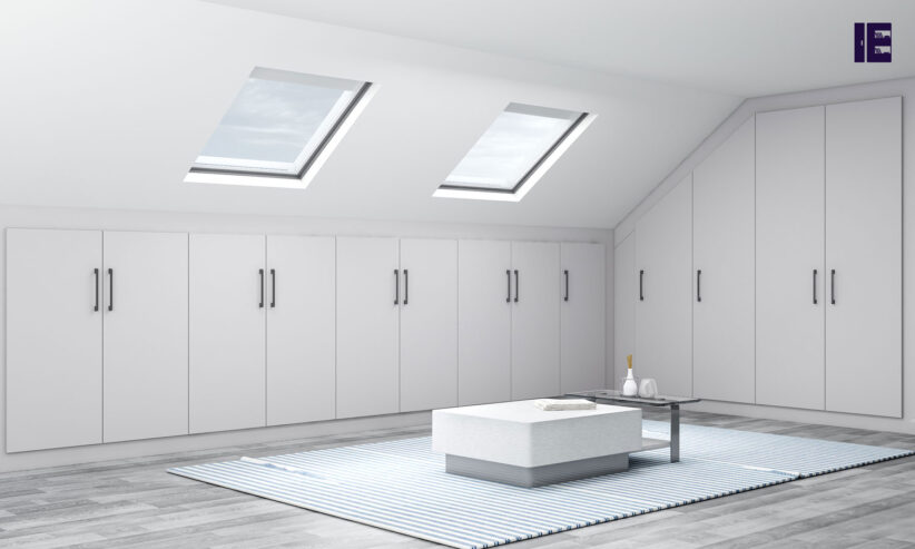 Loft-Fitted-wardrobe-in-Light-grey-matt-finish_1-1