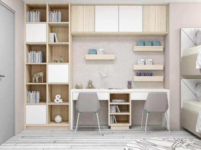 Study-Office-finished-in-light-woodgrain-fleetwood-finish-and-White-matt-2