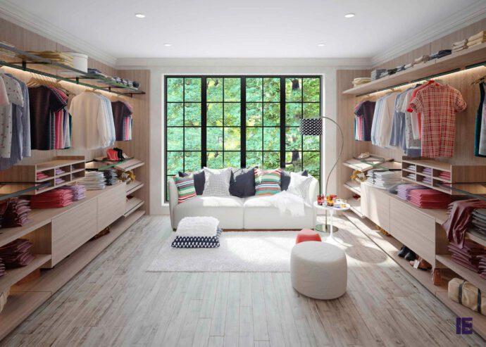 Walkin-wardrobe-in-Confrot-penelope-textured-finish