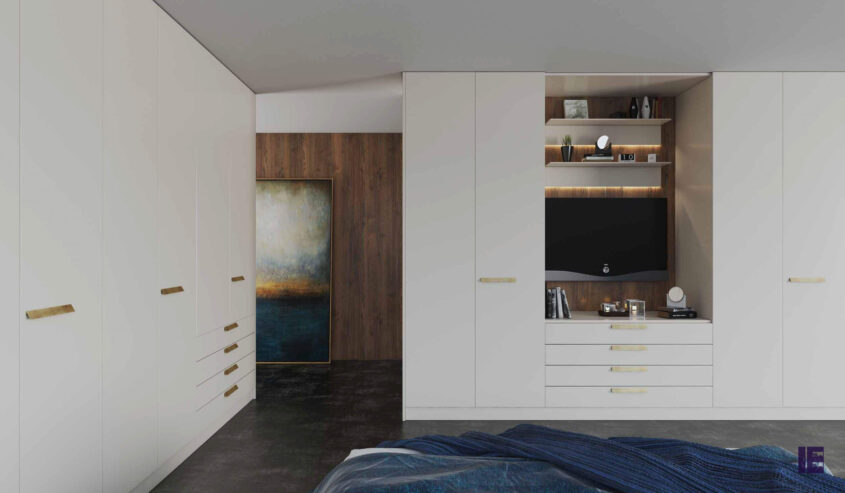 hinged-fitted-wardrobe-white-matt-tv-bridge
