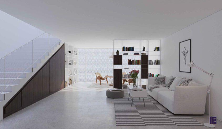 loft-angled-fitted-wardrobe-bokshelf-1